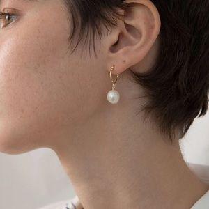SHALENE ✨ Gold Dainty Minimalist Pearl Earrings
